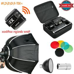 US Godox 2.4 TTL HSS AD200 Flash+New Design Softbox+X1T-N/S/