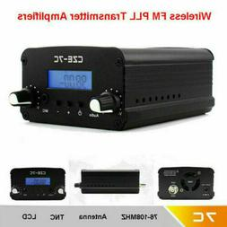 US 7W Stereo Audio FM Transmitter Mini Radio Broadcast PLL S