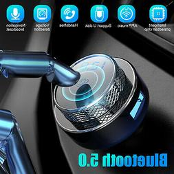 Bluetooth 5.0 Wireless FM Transmitter USB Charger Aux Adapte
