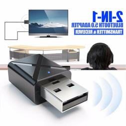 USB Bluetooth 5.0 Receiver Audio Transmitter Adapter For TV/