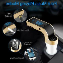 Car FM Transmitter Bluetooth Hands-free LED MP3 Player Radio