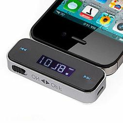 USSTOCK Wireless Car LCD Display Fm Transmitter 3.5mm Wire F