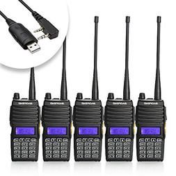 Baofeng 5PCS UV-5X Mate Handheld Two-way radio VHF136-174MHz