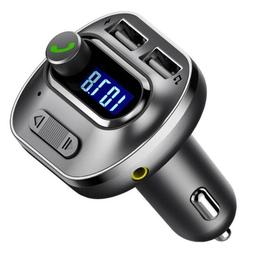 VICTSING Car HandsFree Wireless In-Car Bluetooth FM Transmit