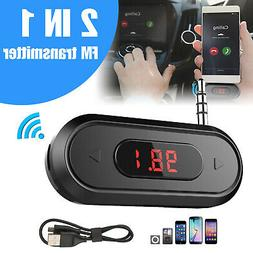 Wireless 3.5mm FM Transmitter For Car Aux MP3 MP4 IPOD iPhon