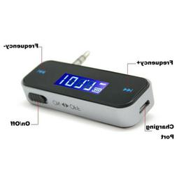Wireless 3.5mm FM Transmitter w/ LCD For MP3 iPod iPhone Cel
