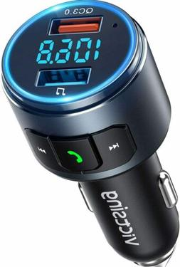 VicTsing Wireless Bluetooth 5.0 FM Transmitter QC3.0 Radio A
