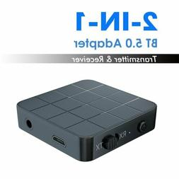 Wireless Bluetooth 5.0 Transmitter And Receiver 3.5mm AUX Au