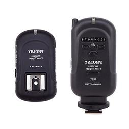 PHOLSY Wireless Flash Trigger Transmitter and Receiver