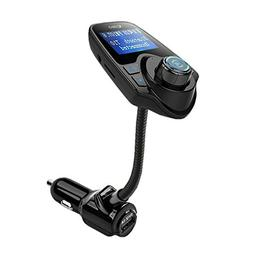 Wireless FM Transmitter + Car Charger, Hands Free Car Kit MP