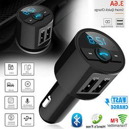 Wireless FM Transmitter Bluetooth MP3 Music Player Hands-fre