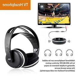Wireless Headphones for TV Headset Stereo Over Ear With Char