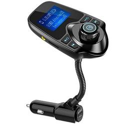 Nulaxy Wireless In-Car Bluetooth FM Transmitter Radio Adapte