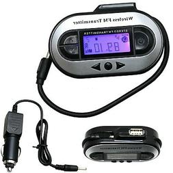 Wireless LCD 200 Channel to Car Radio FM Transmitter For 3.5