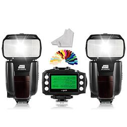 PIXEL Wireless Speedlite Flash 2pcs GN60 +King pro Flash Tri