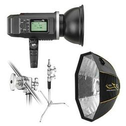 Flashpoint XPLOR 600 HSS R2 Battery-Powered Monolight Kit wi
